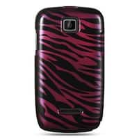 Insten Black/Hot Pink Zebra Hard Snap-on Case Cover For Motorola Theory WX430