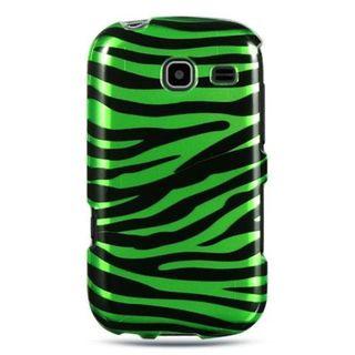 Insten Black/Green Zebra Hard Snap-on Case Cover For Samsung Freeform III R380