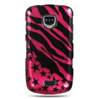 Insten Black/Hot Pink Zebra/Star Hard Snap-on Case Cover For Samsung Droid Charge I510