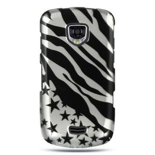 Insten Black/Silver Zebra/Star Hard Snap-on Case Cover For Samsung Droid Charge I510