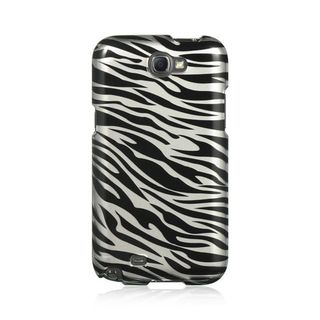 Insten Black/Silver Zebra Hard Snap-on Case Cover For Samsung Galaxy Note II