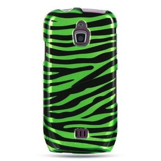 Insten Black/Green Zebra Hard Snap-on Case Cover For Samsung Exhibit 4G T759
