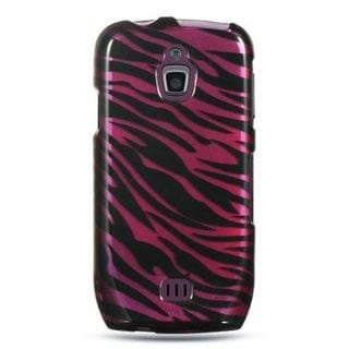 Insten Black/Hot Pink Zebra Hard Snap-on Case Cover For Samsung Exhibit 4G T759