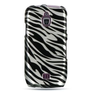 Insten Black/Silver Zebra Hard Snap-on Case Cover For Samsung Exhibit 4G T759