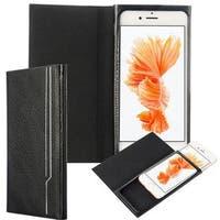 Insten Black Leather Case Cover For Apple iPhone 6 Plus/6s Plus