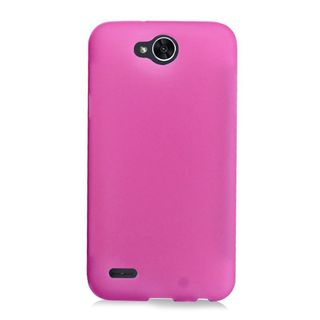 Insten Hot Pink Frosted TPU Rubber Candy Skin Case Cover For LG X Power 2