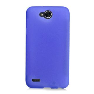 Insten Blue Frosted TPU Rubber Candy Skin Case Cover For LG X Power 2