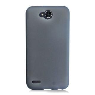 Insten Black Frosted TPU Rubber Candy Skin Case Cover For LG X Power 2