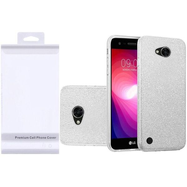 online retailer b787f c6138 Insten Silver Hard Snap-on Glitter Case Cover For LG Fiesta LTE/ K10 Power/  X Charge/ X Power 2
