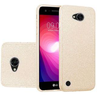 Insten Gold Hard Snap-on Glitter Case Cover For LG X Power 2