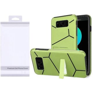 Insten Neon Green/  Black Hard Snap-on Dual Layer Hybrid Case Cover with Stand For Samsung Galaxy S8 Plus S8+