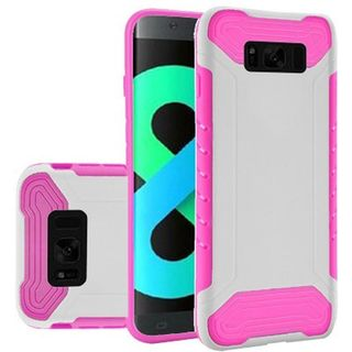 Insten White/  Hot Pink Slim Armor Hard Snap-on Dual Layer Hybrid Case Cover For Samsung Galaxy S8 Plus S8+