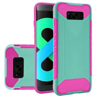Insten Teal/  Hot Pink Slim Armor Hard Snap-on Dual Layer Hybrid Case Cover For Samsung Galaxy S8 Plus S8+