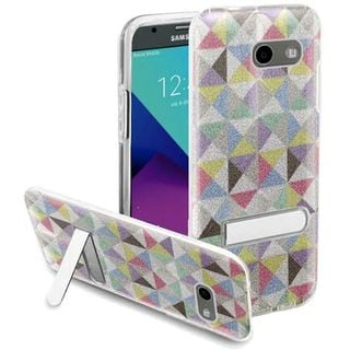 Insten Colorful Checker Hard Snap-on Case with Stand For Samsung Galaxy Amp Prime 2/ Express Prime 2/ J3 (2017)/ J3 Emerge