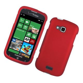 Insten Red Hard Snap-on Rubberized Matte Case Cover For Samsung ATIV Odyssey