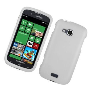 Insten White Hard Snap-on Rubberized Matte Case Cover For Samsung ATIV Odyssey