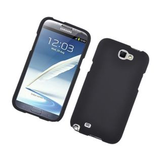 Insten Black Hard Snap-on Rubberized Matte Case Cover For Samsung Galaxy Note II
