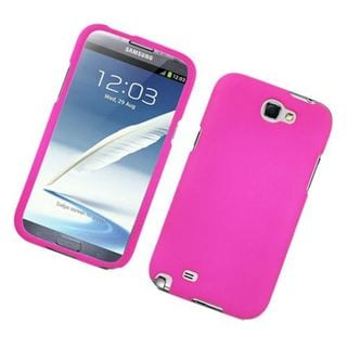 Insten Hot Pink Hard Snap-on Rubberized Matte Case Cover For Samsung Galaxy Note II