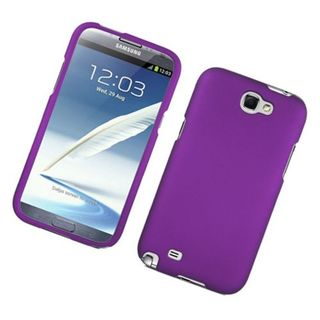 Insten Purple Hard Snap-on Rubberized Matte Case Cover For Samsung Galaxy Note II