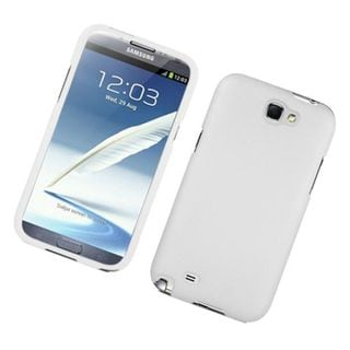 Insten White Hard Snap-on Rubberized Matte Case Cover For Samsung Galaxy Note II
