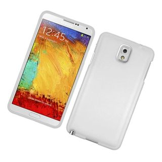 Insten White Hard Snap-on Rubberized Matte Case Cover For Samsung Galaxy Note 3