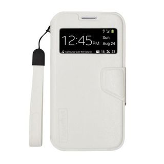 Insten White Leather Case Cover Lanyard For Samsung Galaxy S4 GT-i9500