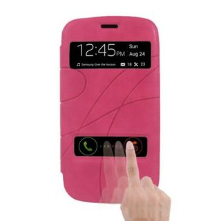 Insten Pink Leather Case Cover For Samsung Galaxy S3 GT-i9300
