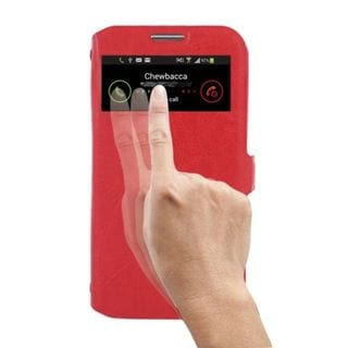 Insten Red Leather Case Cover with Wallet Flap Pouch For Samsung Galaxy S4 GT-i9500