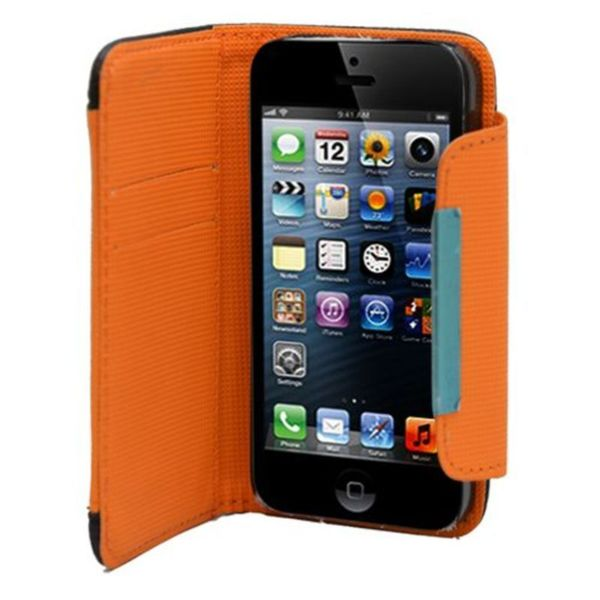 Shop Insten Black Orange Leather Case Cover With Wallet