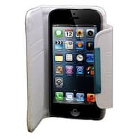 Insten White Leather Case Cover with Wallet Flap Pouch For Apple iPhone 5/5S