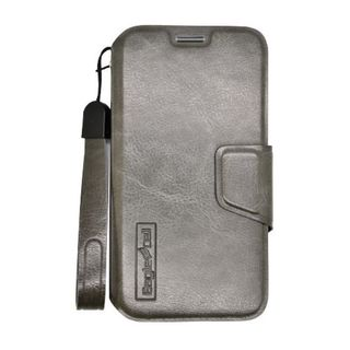 Insten Dark Gray Leather Case Cover Lanyard with Wallet Flap Pouch For Motorola Moto X 1st Gen