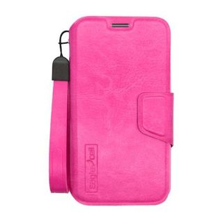 Insten Hot Pink Leather Case Cover Lanyard with Wallet Flap Pouch For Motorola Moto X 1st Gen