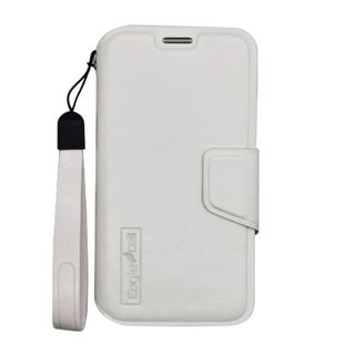 Insten White Leather Case Cover Lanyard with Wallet Flap Pouch For Motorola Moto X 1st Gen