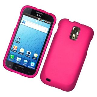 Insten Hot Pink Hard Snap-on Rubberized Matte Case Cover For Samsung Galaxy S2 Hercules T989 T-Mobile