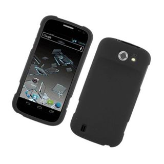 Insten Black Hard Snap-on Rubberized Matte Case Cover For ZTE Flash N9500