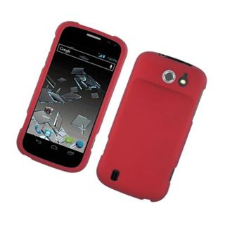 Insten Red Hard Snap-on Rubberized Matte Case Cover For ZTE Flash N9500