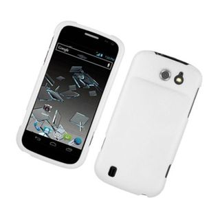 Insten White Hard Snap-on Rubberized Matte Case Cover For ZTE Flash N9500