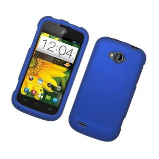 Insten Blue Hard Snap-on Rubberized Matte Case Cover For ZTE Savvy Z750c
