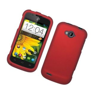 Insten Red Hard Snap-on Rubberized Matte Case Cover For ZTE Savvy Z750c