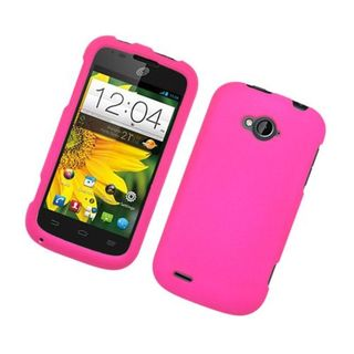 Insten Hot Pink Hard Snap-on Rubberized Matte Case Cover For ZTE Savvy Z750c