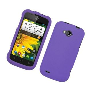 Insten Purple Hard Snap-on Rubberized Matte Case Cover For ZTE Savvy Z750c