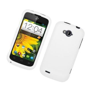 Insten White Hard Snap-on Rubberized Matte Case Cover For ZTE Savvy Z750c