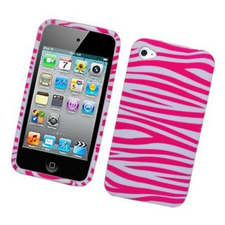 Insten Hot Pink/White Zebra Hard Snap-on Case Cover For Apple iPhone 4/4S