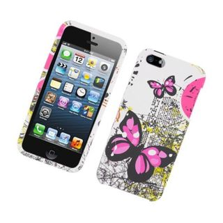 Insten Multi-Color Butterflies Hard Snap-on Case Cover For Apple iPhone 5/5S