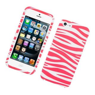 Insten Hot Pink/White Zebra Hard Snap-on Case Cover For Apple iPhone 5/5S
