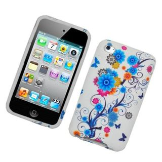 Insten Multi-Color Flowers Hard Snap-on Case Cover For Apple iPod Touch 4th Gen