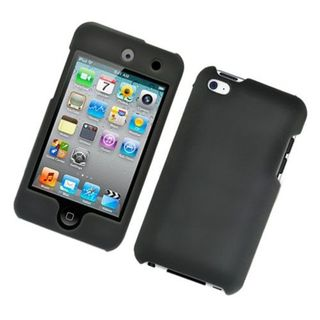 Insten Black Hard Snap-on Rubberized Matte Case Cover For Apple iPod Touch 4th Gen