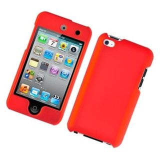 Insten Red Hard Snap-on Rubberized Matte Case Cover For Apple iPod Touch 4th Gen