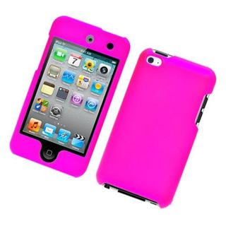 Insten Hot Pink Hard Snap-on Rubberized Matte Case Cover For Apple iPod Touch 4th Gen