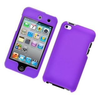 Insten Purple Hard Snap-on Rubberized Matte Case Cover For Apple iPod Touch 4th Gen